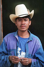 Man with cowboy hat from guatemala